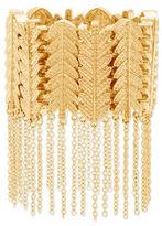 Steve Madden Leaf Design Link & Cable Chain Fringe Bracelet