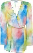 ATTICO The Tie-Dye Crepe De Chine Mini Dress