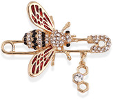 Ella & Elly Women's Brooches and Pins Gold - Goldtone & Crystal Bee Brooch