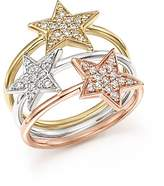 Bloomingdale's Diamond Triple Row Star Ring in 14K Gold, .35 ct. t.w. - 100% Exclusive