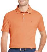 Izod Interlock Heathered Easy Care Short Sleeve Polo