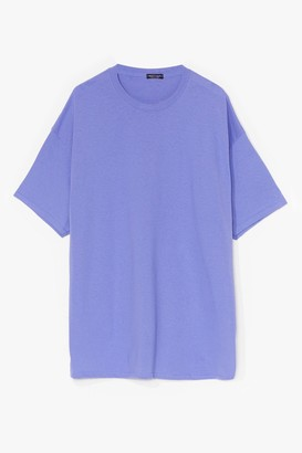 Nasty Gal Womens Easy Does It Tee Dress - Violet
