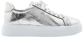 Schutz Raver Metallic Leather Platform Sneakers
