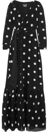 Moschino Polka-dot Silk-chiffon Maxi Dress