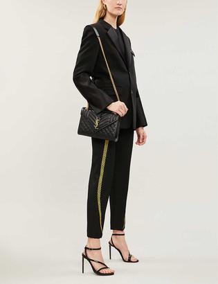 Saint Laurent Monogram quilted leather satchel