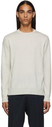 Ermenegildo Zegna White Cashmere Sweater