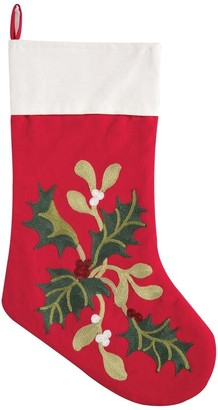 C&F Home Winter Holly Embroidered Christmas Stocking