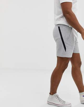 Jack and Jones jersey shorts in gray