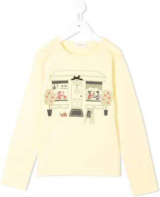 Familiar graphic print long-sleeve top