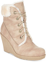 DOLCE by Mojo Moxy Fresco Lace-Up Wedge Booties