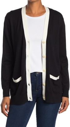 J.Crew Rack Tipped Boyfriend Cardigan