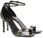 Saint Laurent Amber leopard-print leather sandals