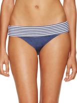 Splendid Banded Striped Waist Bikini Bottom
