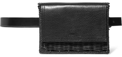 093611f9 Tao Rattan And Leather Belt Bag - Black