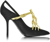 Moschino Black Suede Pump