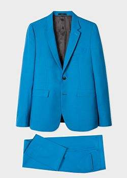 The Kensington - Men's Slim-Fit Blue Wool 'A Suit To Travel In'
