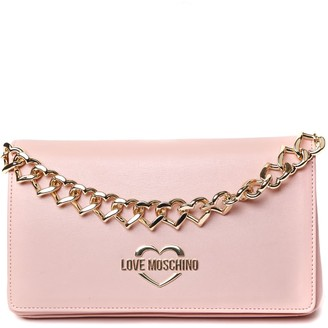 Love Moschino Pink Patent Eco Leather Bag