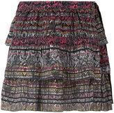IRO snake-print tiered skirt