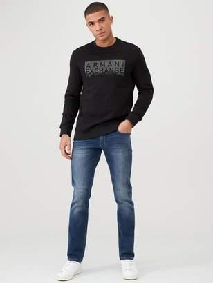 Armani Exchange Studded Logo Sweatshirt