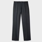 Paul Smith Men's Slim-Fit Dark Grey Tonal-Check Wool Trousers