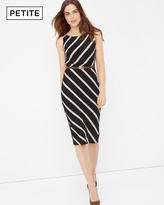 White House Black Market Diagonal Stripe Sheath Dress