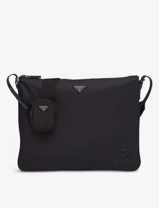 Prada Leather and recycled-nylon shoulder bag