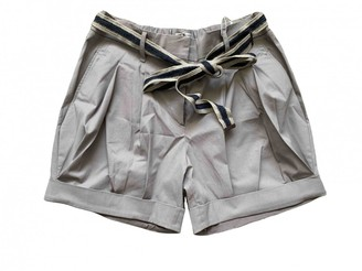 Brunello Cucinelli Grey Cotton - elasthane Shorts for Women