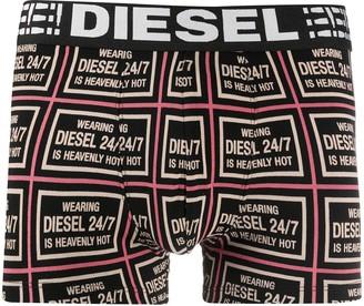 Diesel Geometric Logo Print Boxers