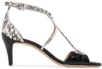 Chloé 60mm snake-print T-bar sandals