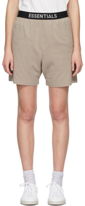 Essentials Beige Jersey Lounge Shorts