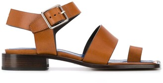 Maison Margiela Leather Square-Toe Sandals
