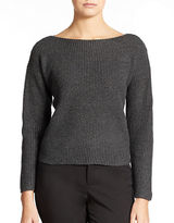 Lord & Taylor Petite Wool Blend Waffle Knit Sweater