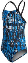 adidas Youth Amoeba Blocks Vortex Back One Piece Swimsuit 8141860
