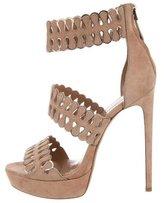 Alaia Suede Platform Sandals w/ Tags