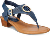 Tommy Hilfiger Kandess Block-Heel Thong Sandals Women's Shoes