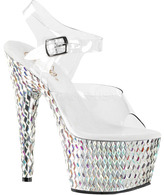 Pleaser USA Women's Bejeweled 708DS Ankle-Strap Sandal