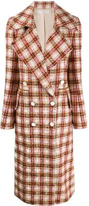 Victoria Beckham Double-Breasted Tweed Coat
