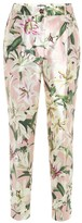 Dolce & Gabbana Mid-rise cropped floral satin pants