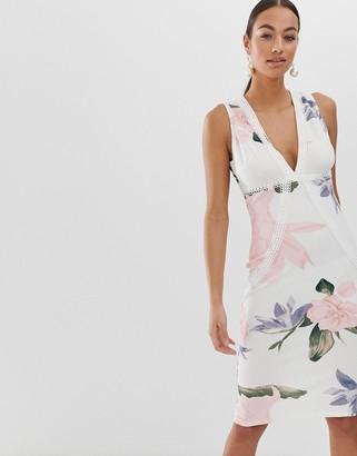 AX Paris floral midi bodycon dress