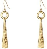 Robert Lee Morris Hammered Triangle Circle Drop Earrings