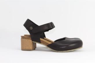Jonny's Black Heel Sandal - 38