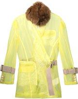 Sacai sheer belted jacket