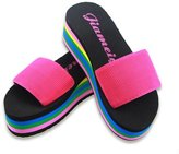 Huafeiwude Womens Beach Platform Wedges Sandals Comfortable Slipper Shoes 37