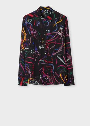 Paul Smith Women's 'Climbing Rope' Print Shirt