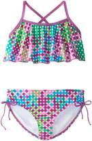 Kanu Surf Big Girls' Nikki Flounce Bikini Swimsuit