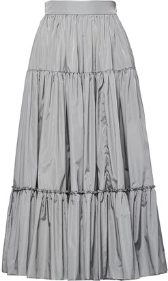 Prada Full Tiered Midi Skirt