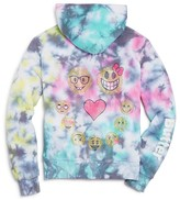 Butter Shoes Girls' Tie Dye Emoji Hoodie - Sizes 4-6