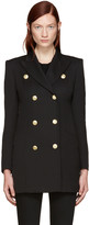 Pierre Balmain Black Gold Buttons Double-breasted Blazer