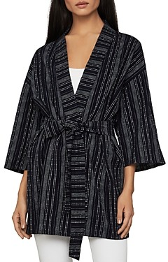 BCBGMAXAZRIA Light Stripe Wrap Jacket