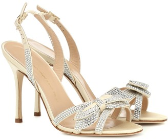 Alessandra Rich Crystal-embellished satin sandals